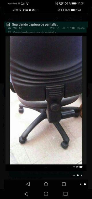 silla giratoria con regulador escritorio