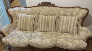 Conjunto de sofá y sillones isabelinos