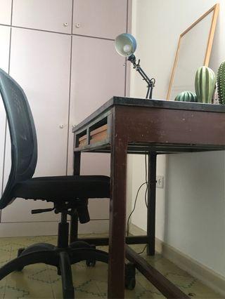Escritorio / mesa Vintage con silla de oficina