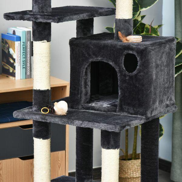 Árbol Rascador para Gatos con Postes Sisal Hamaca