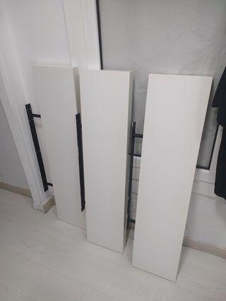 baldas blancas de ikea - estante de pared