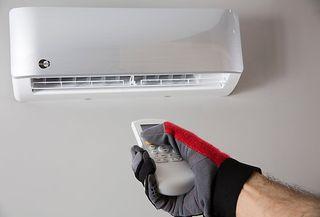 Montaje de aire acondicionado