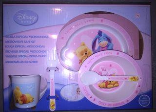 Vajilla plástico bebé Disney.