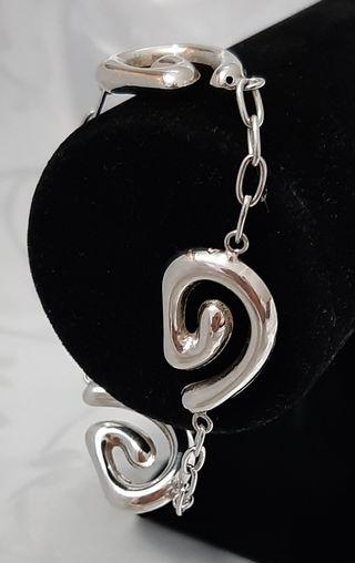 Pulsera de plata sellada , 925 1644 AR
