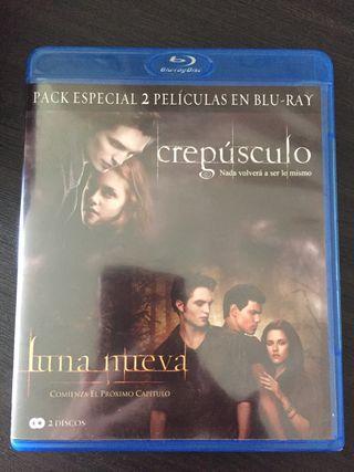 Pack Blu Ray Crepúsculo+Luna Nueva