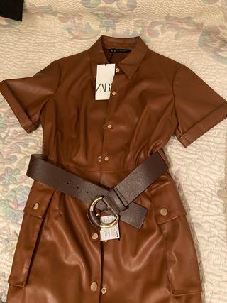 Vestido Zara piel