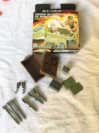 Unidad de depósito de municiones Gi Joe 1985