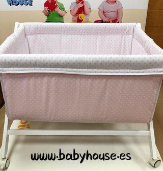 Minicuna bebé rosa estrellas NUEVA