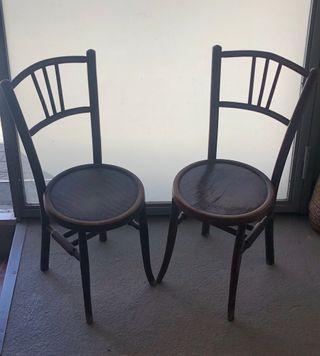 2 sillas antiguas, asientos decorado especial