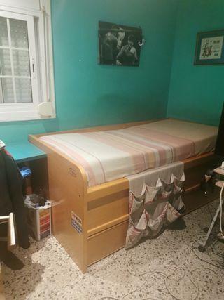 cama doble con canapé
