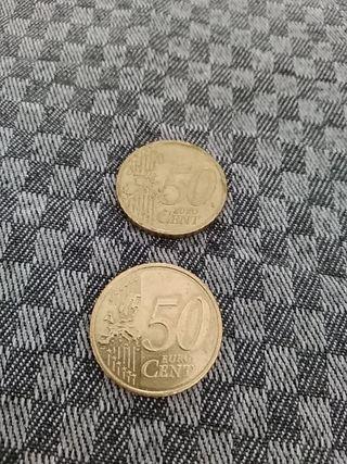 Monedas de 0'50 centimos