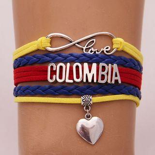 Pulsera Colombia Love Corazón Brazalete Cuerda
