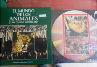 coleccion 18 discos laserdisc mundo de animales