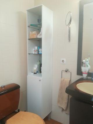 Mueble armario blanco para baño