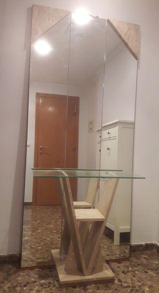 Recibidor Marmol & espejo pared.