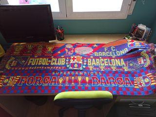 Bufandas FCB muy bien cuidadas