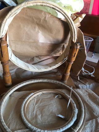 Tambores bordar a mano años 40