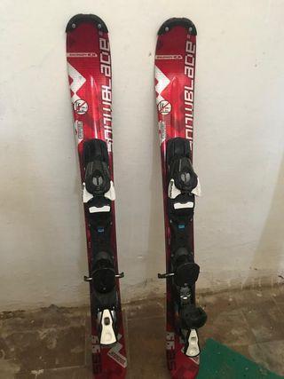 Esquís + fijaciones Salomon