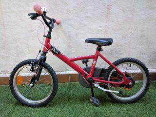bicicleta para niño o niña de 16 pulgadas