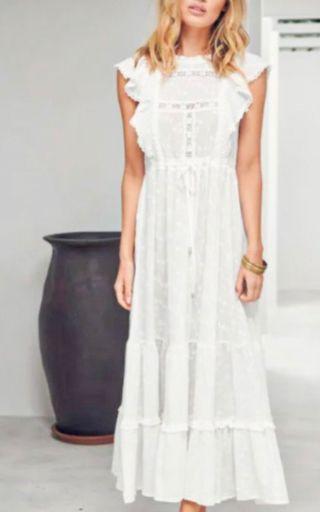 Vestido estilo boho blanco