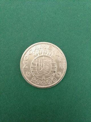 Moneda Plata. Mozambique. 20 escudos.