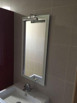 Espejo baño con aplique
