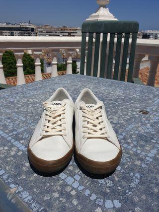 zapatillas Lacoste Lerond blancas