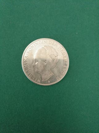 Moneda grande de plata. Holanda. 1930.