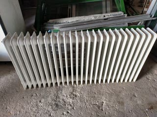 radiador de chapa blanco