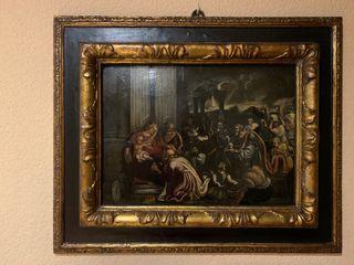 cuadro antiguo con un marco de lujo