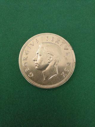 Moneda grande de plata. Sudáfrica. 5 Chelines.