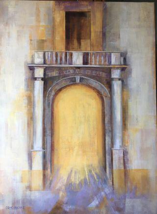 Cuadro pintado al óleo sobre lienzo 81x60