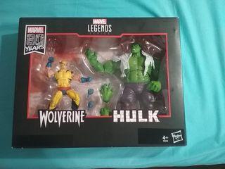 Marvel Legends pack Wolverine vs Hulk
