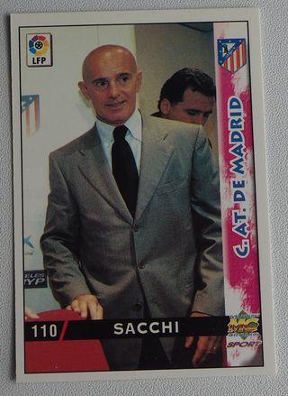 110 SACCHI AT.MADRID MUNDICROMO FICHAS LIGA 98-99