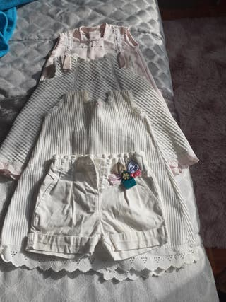 lote 10 prendas vestidos d3 a 6m