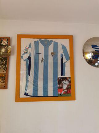 Camiseta oficial Málaga C.F. firmada
