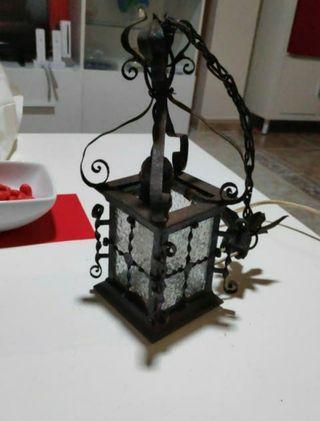 Farol o lámpara muy antigua para restaurar