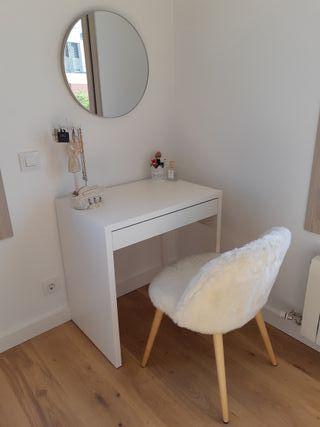 Tocador/peinadora (conjunto incluye silla y espejo