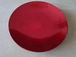 Plato decorativo PVC rojo