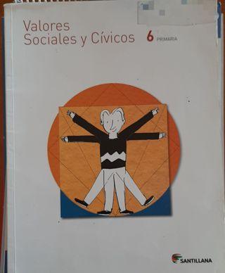 Valores sociales y cívicos sexto primaria