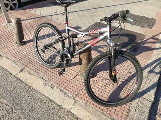 """Bicicleta Rockrider 26"""" S doble suspensión"""