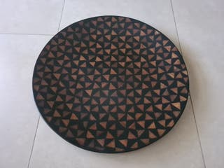 Plato decorativo de madera