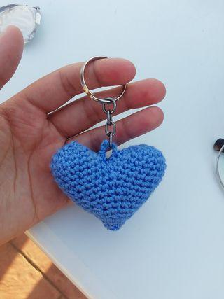 Llavero corazón de crochet