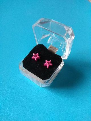 Pendientes estrella rosa CLAIRE'S