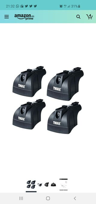 Thule TH753 - Pie portaequipajes - baca