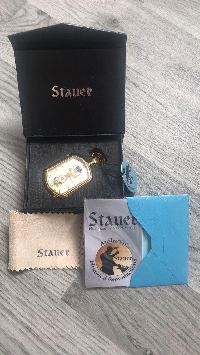 Stauer rectangle grandfathers pocket watch