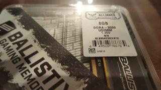 MEMORIA 16 GB BALLISTIX SPORT 3000 MHZ Nueva