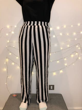 Elastic Trousers with stripes