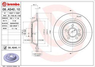 Discos de freno Brembo 08.A540.11