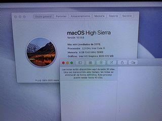 Apple Mac Mini 2011. 8 GB RAM, 500 GB SSD (Leer)